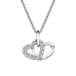 Pøívìsek Hot Diamonds Valentines white topaz DP682