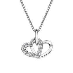 Pøívìsek Hot Diamonds Valentines white topaz DP682