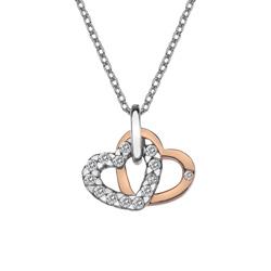 Pøívìsek Hot Diamonds Valentines white topaz DP683