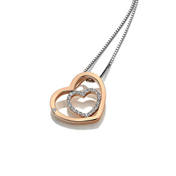 Obrázek è. 4 k produktu: Støíbrný pøívìsek Hot Diamonds Adorable Encased Rose Gold DP692