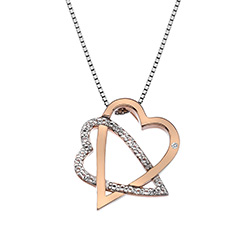 Stříbrný přívěsek Hot Diamonds Adorable Rose Gold DP694