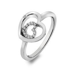 Støíbrný prsten Hot Diamonds Adorable Encased DR201