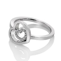 Obrázek è. 2 k produktu: Støíbrný prsten Hot Diamonds Adorable Encased DR201