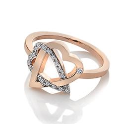 Obrázek è. 2 k produktu: Støíbrný prsten Hot Diamonds Adorable Rose Gold DR204