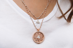 Obrázek è. 20 k produktu: Støíbrný pøívìsek Hot Diamonds Emozioni Reversible Coin Keeper Rose Gold
