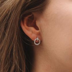 Obrázek è. 8 k produktu: Støíbrné náušnice Hot Diamonds Flora DE580