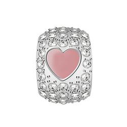 Pøívìsek s krystaly Morellato Drops srdce CZ958