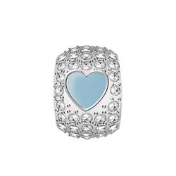 Pøívìsek s krystaly Morellato Drops srdce CZ959