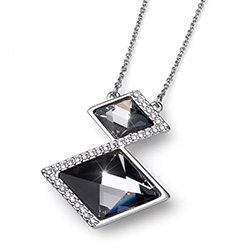 Støíbrný  pøívìsek s krystaly Swarovski Oliver Weber 11758