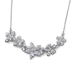 Stříbrný náhrdelník s krystaly Swarovski Oliver Weber 11778