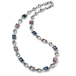 Støíbrný náhrdelník s krystaly Swarovski Oliver Weber 11789