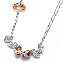 Støíbrný náhrdelník s krystaly Swarovski Oliver Weber 11794
