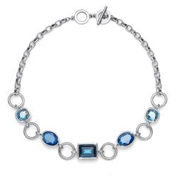 Náhrdelník s krystaly Swarovski Oliver Weber Royal blue 11800-BLU