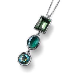 Pøívìsek s krystaly Swarovski Oliver Weber Royal large green 11801
