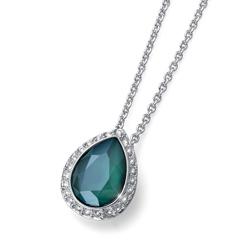 Pøívìsek s krystaly Swarovski Oliver Weber Kingly royal green 11803