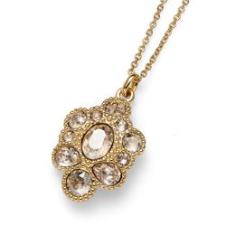 Přívěsek s krystaly Swarovski Oliver Weber Keen dorado 11814G