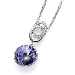 Pøívìsek s krystaly Swarovski Oliver Weber Rivoli violet 11820-371