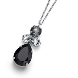 Pøívìsek s krystaly Swarovski Oliver Weber Jazzy simple black 11872-BLA