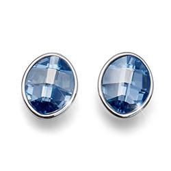 Stříbrné náušnice s krystaly Swarovski Oliver Weber 22680-923