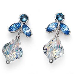 Stříbrné náušnice s krystaly Swarovski Oliver Weber 22681