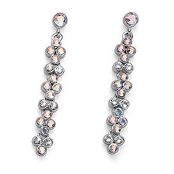 Stříbrné náušnice s krystaly Swarovski Oliver Weber 22682