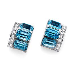 Stříbrné náušnice s krystaly Swarovski Oliver Weber 22684