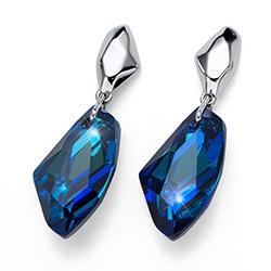 Stříbrné náušnice s krystaly Swarovski Oliver Weber 22685R