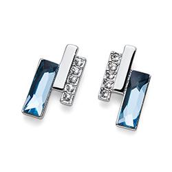 Stříbrné náušnice s krystaly Swarovski Oliver Weber 22687