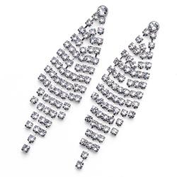 Stříbrné náušnice s krystaly Swarovski Oliver Weber 22688