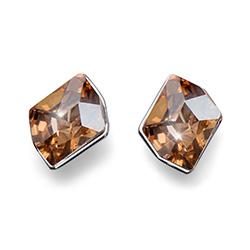 Stříbrné náušnice s krystaly Swarovski Oliver Weber 22690