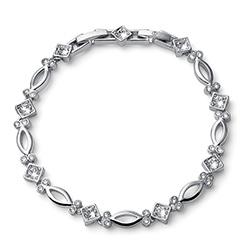 Stříbrný náramek s krystaly Swarovski Oliver Weber 32196