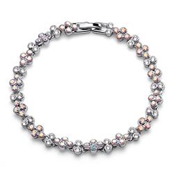 Stříbrný náramek s krystaly Swarovski Oliver Weber 32200