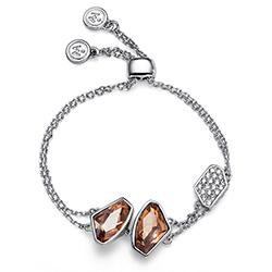 Stříbrný náramek s krystaly Swarovski Oliver Weber 32201