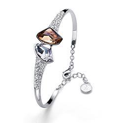 Støíbrný náramek s krystaly Swarovski Oliver Weber 32202