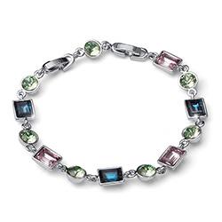 Støíbrný náramek s krystaly Swarovski Oliver Weber 32203
