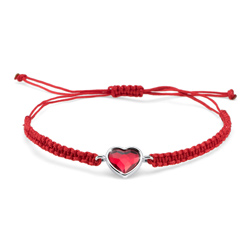 Náramek s krystaly Swarovski Oliver Weber Love cord lt. siam 32205-227