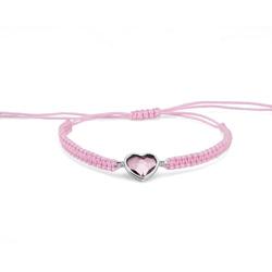 Náramek s krystaly Swarovski Oliver Weber Love cord antique pink 32205-920