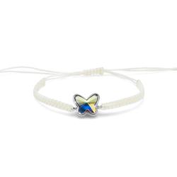 Náramek s krystaly Swarovski Oliver Weber Butterly cord AB 32206-AB