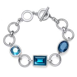 Náramek s krystaly Swarovski Oliver Weber Royal blue 32208