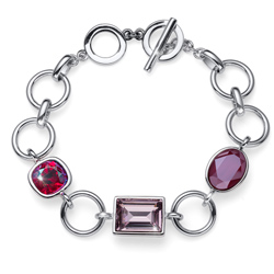 Náramek s krystaly Swarovski Oliver Weber Royal red 32208