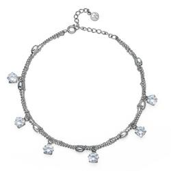 Náramek s krystaly Swarovski Oliver Weber Anklet Dots 39101