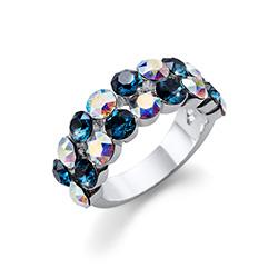 Stříbrný  prsten s krystaly Swarovski Oliver Weber 41140L-207