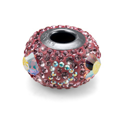 Přívěsek s krystaly Swarovski Oliver Weber drops Bead Lovely rose 56025-223