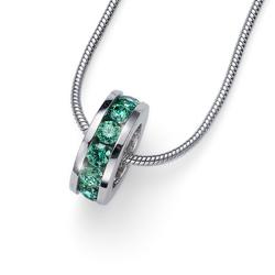 Pøívìsek s krystaly Swarovski Oliver Weber Circle green 61132-GRE