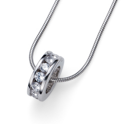 Přívěsek s krystaly Swarovski Oliver Weber Circle 61132-WHI