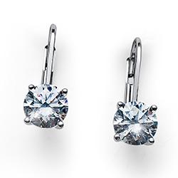 Støíbrné náušnice s krystaly Swarovski Oliver Weber 62071