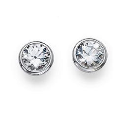 Stříbrné náušnice s krystaly Swarovski Oliver Weber 62072