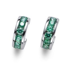 Náušnice s krystaly Swarovski Oliver Weber Circle green 62074-GRE