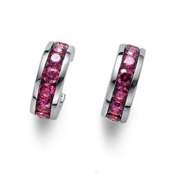 Náušnice s krystaly Swarovski Oliver Weber Circle pink 62074-PIN