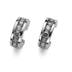 Náušnice s krystaly Swarovski Oliver Weber Circle 62074-WHI